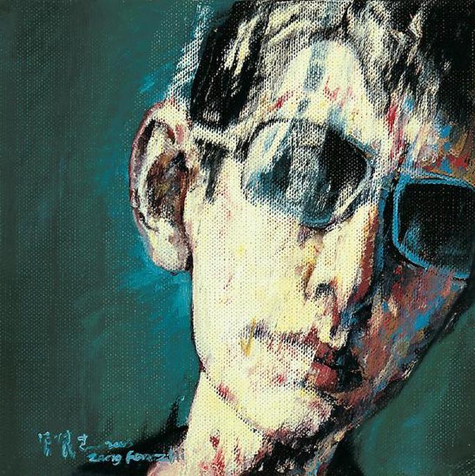 Zeng Fanzhi, Portrait 08-7-6, 2008, Oil on canvas, 27 x 27 cm