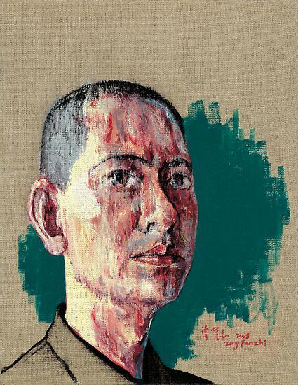 Zeng Fanzhi, Self-Portrait I, 2008, Oil on canvas, 44 x 34 cm