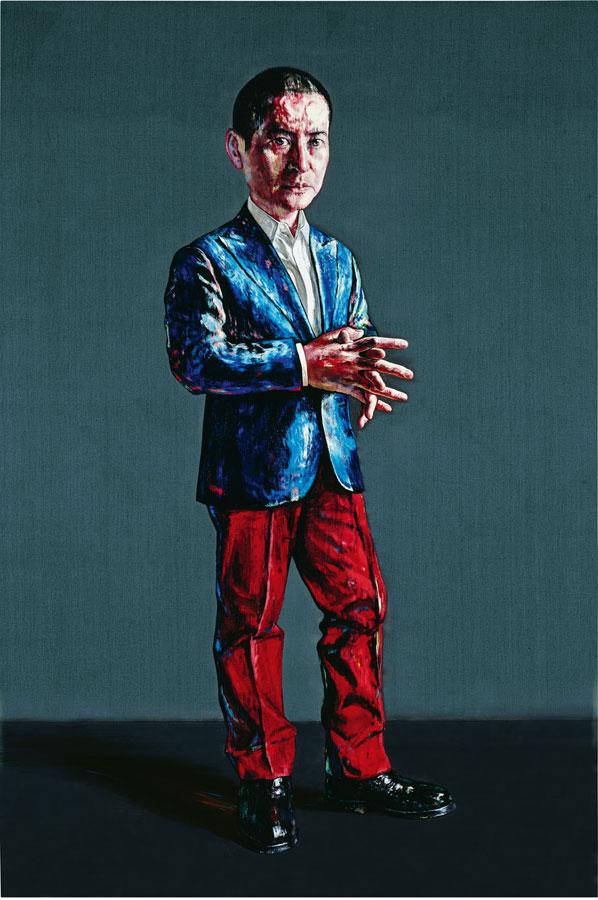 Zeng Fanzhi, Self-portrait, 2011, Oil on canvas, 150 x 100 cm