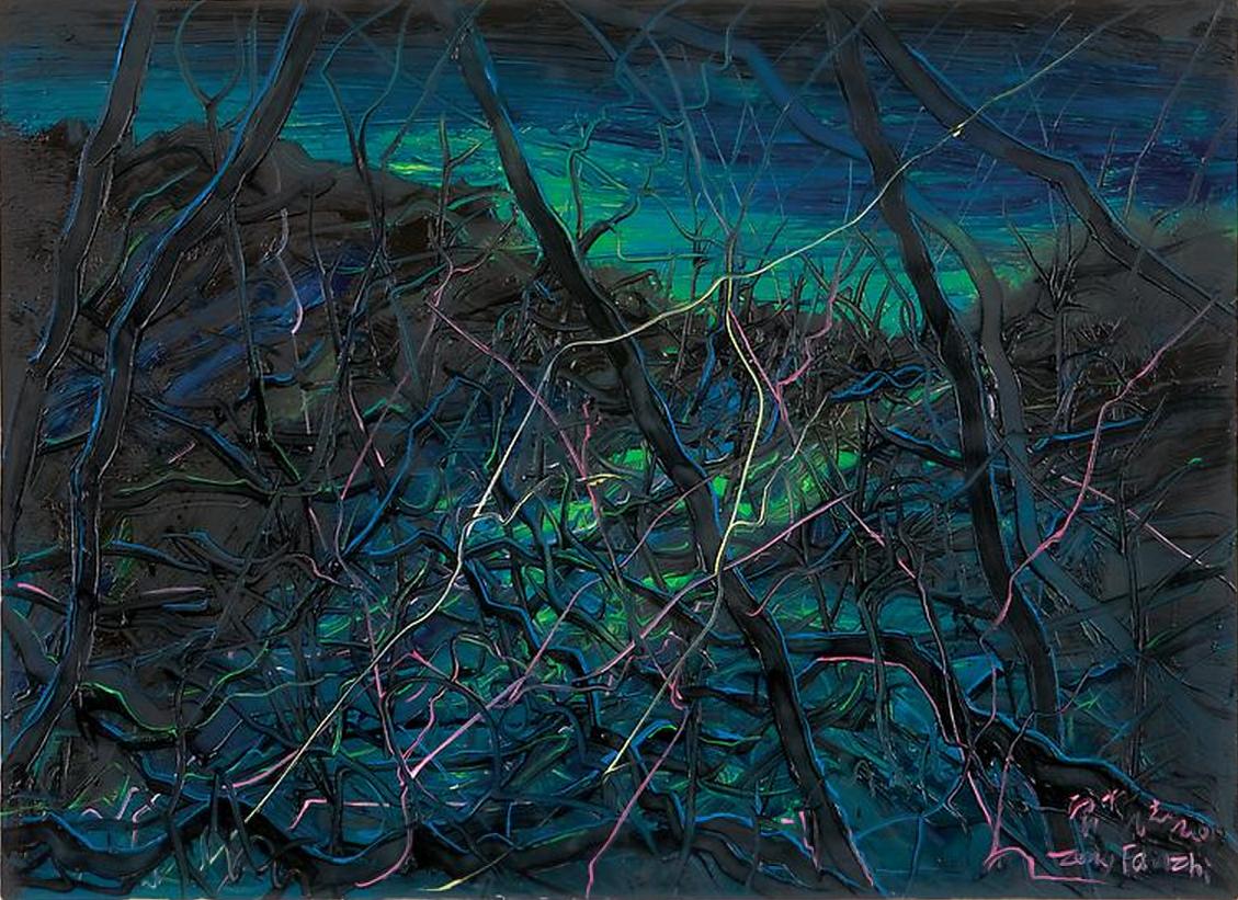 Zeng Fanzhi, Untitled 08-4-1, 2008, Oil on canvas, 80 x 110 cm