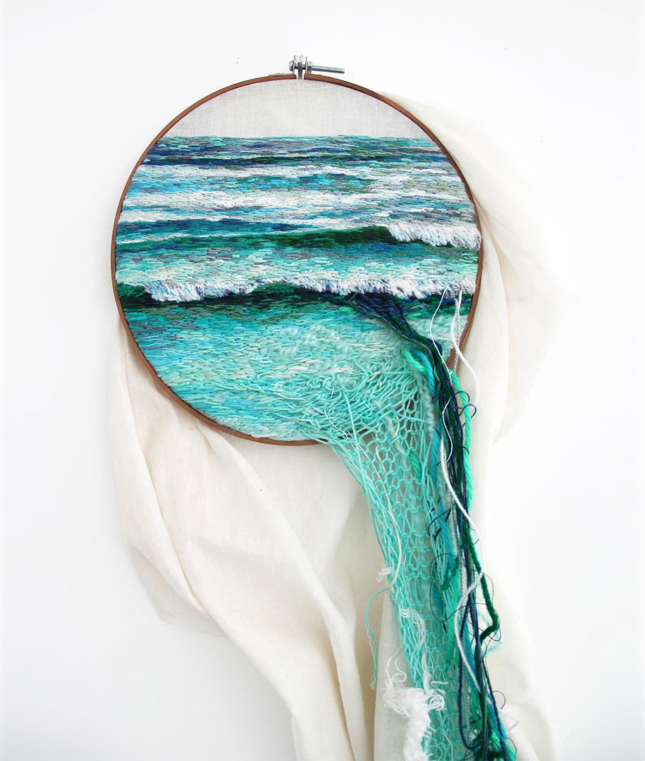 Ana Teresa Barboza S Embroidery Art Flows Out Over Its Frames Art Sheep