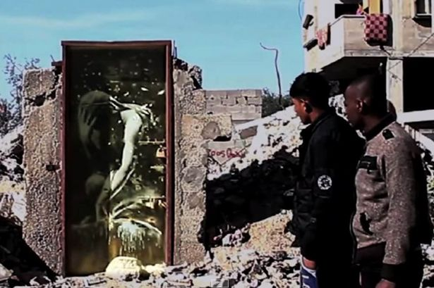 Banksys-satirical-film-in-Gaza