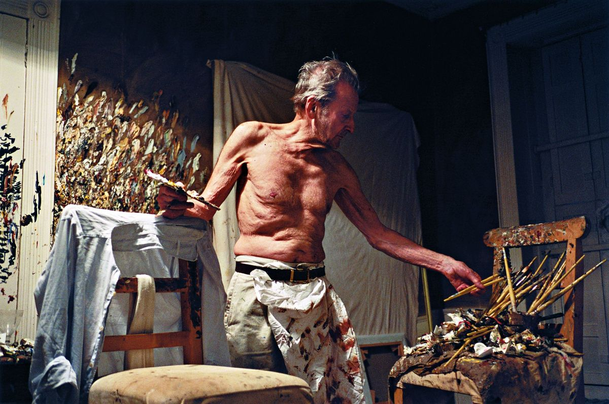 """Lucian Freud Working at Night"" (2005)  by David Dawson"