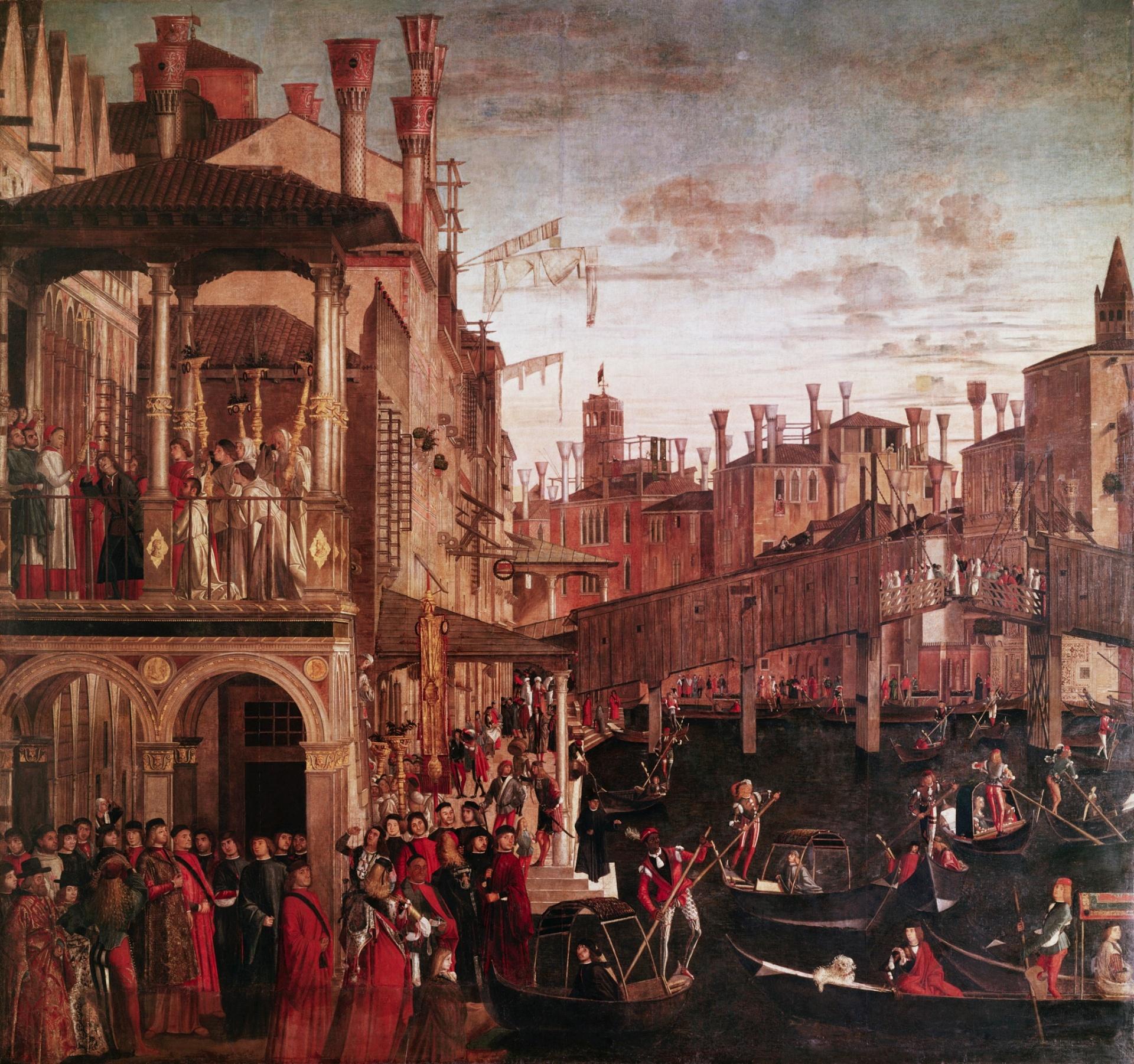 Vittore Carpaccio – The Healing of the Possessed Man at the Rialto (c. 1496)