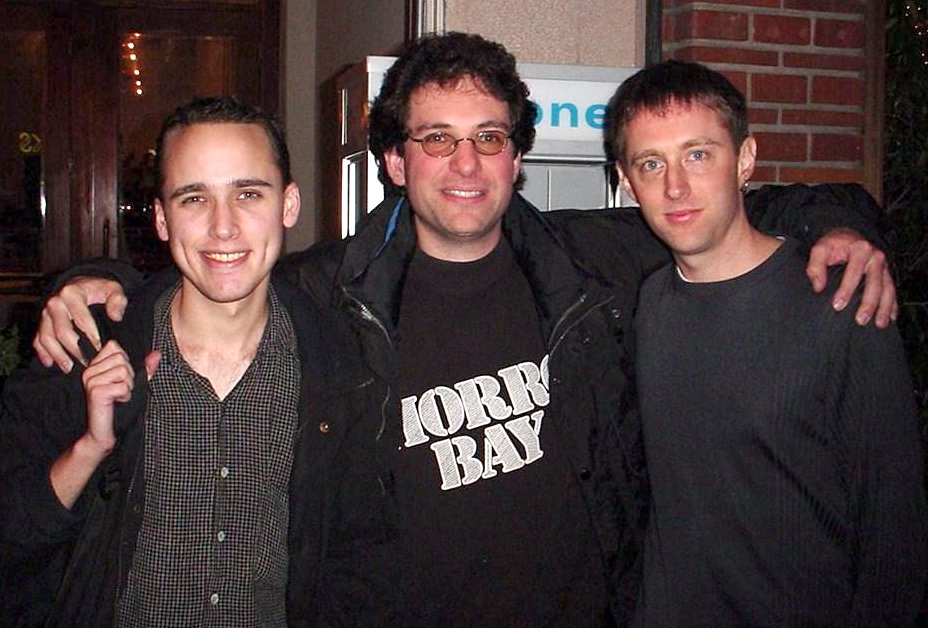 Adrian Lamo, Kevin Mitnick, and Kevin Poulsen in 2001.
