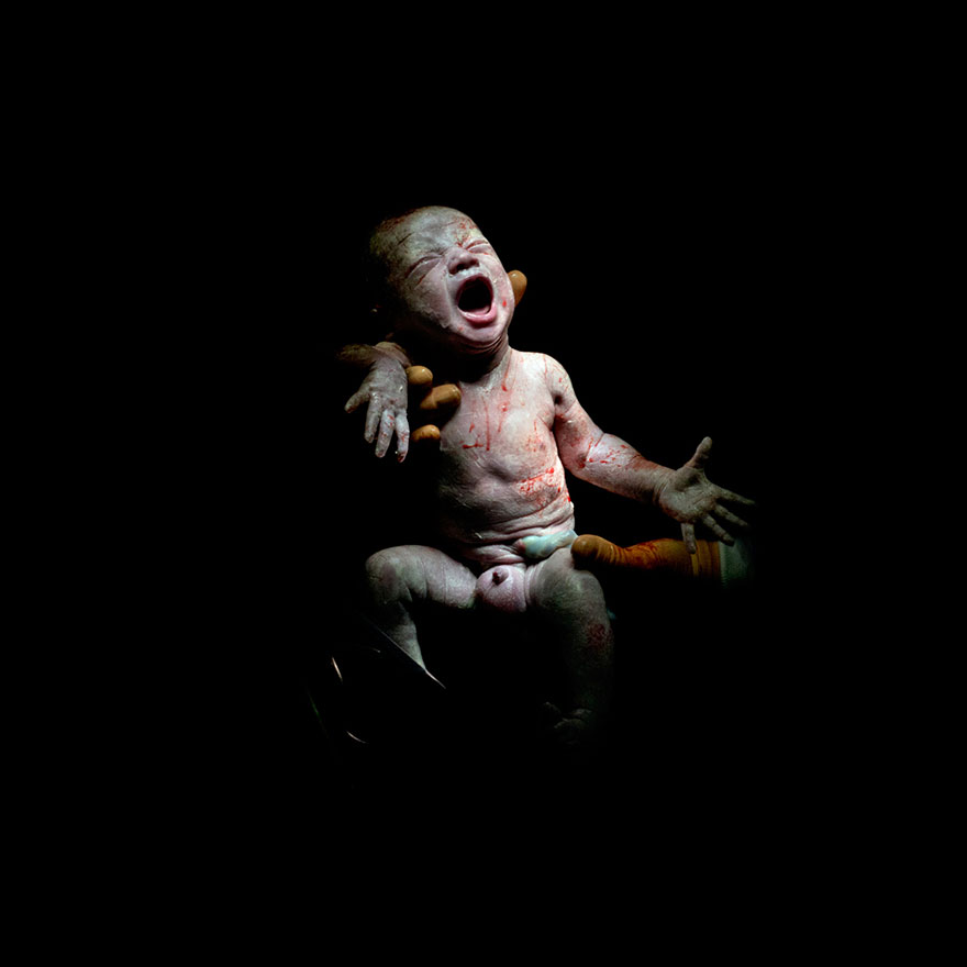 Mael – 18 seconds after birth