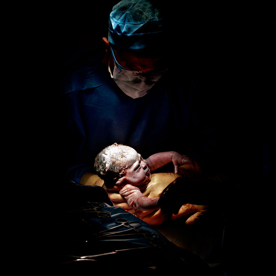 Chloé – 11 seconds after birth