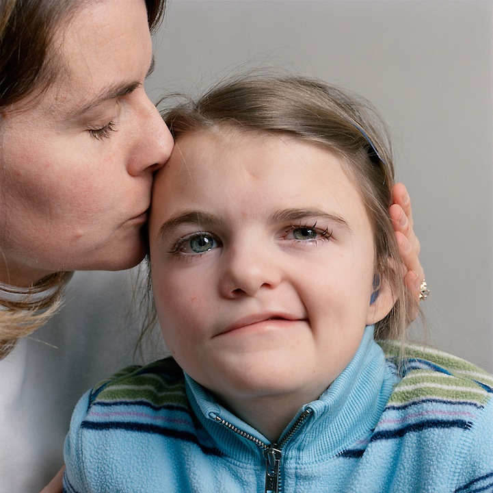 7-year-old girl with her mother, 2008