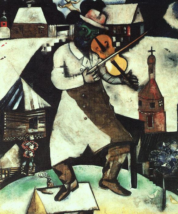 "Marc Chagall, ""Fiddler""."