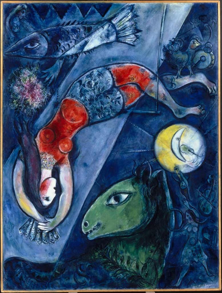 """Marc Chagall, """"Blue Circus""""."""