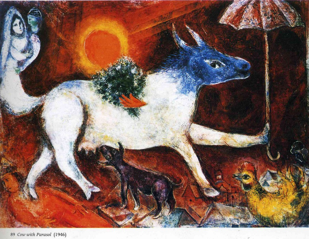 "Marc Chagall, ""Cow With Parasol"", 1946."