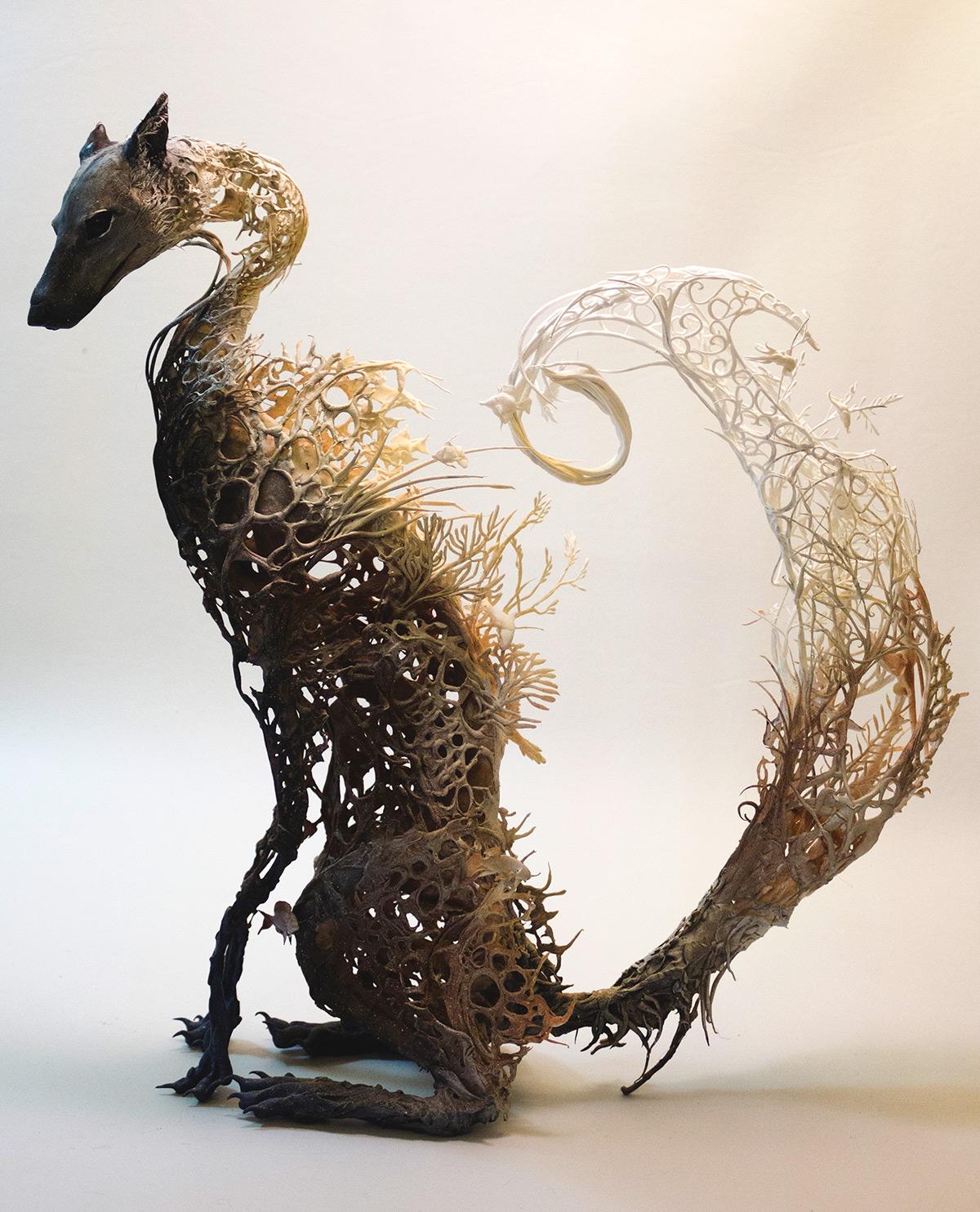 ellen animals sheep sculptures fusion plants jewett surrealist artist