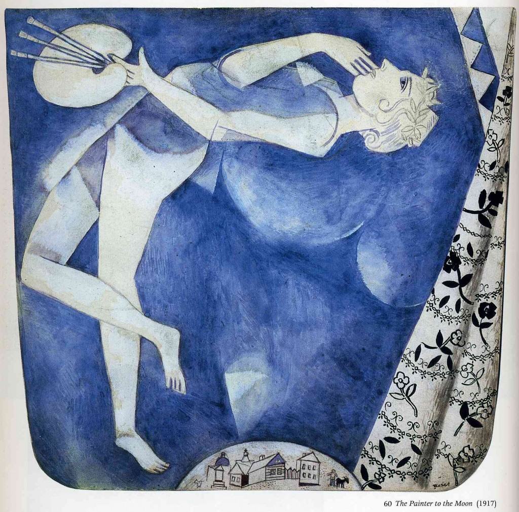 "Marc Chagall, ""The Painter To The Moon"", 1917."