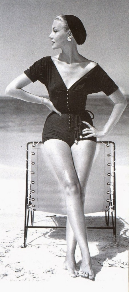 Knit bathing suit by Claire McCardell.