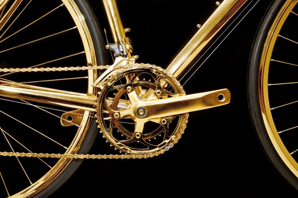 Bicycle-gold-crank