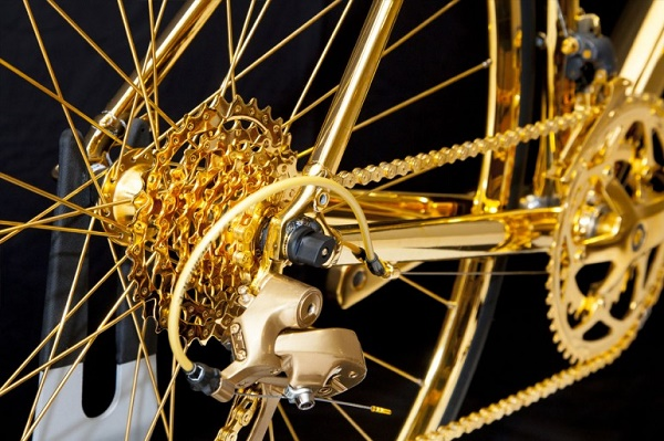 Bicycle-gold-gear-cluster