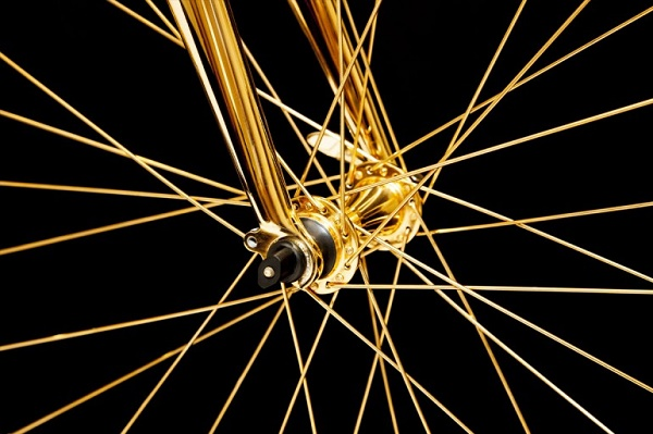 Bicycle-gold-spokes