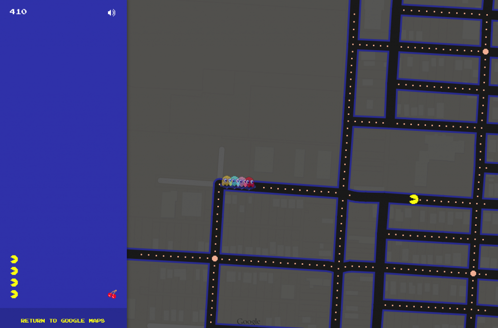 Pac-Man-Google-Maps
