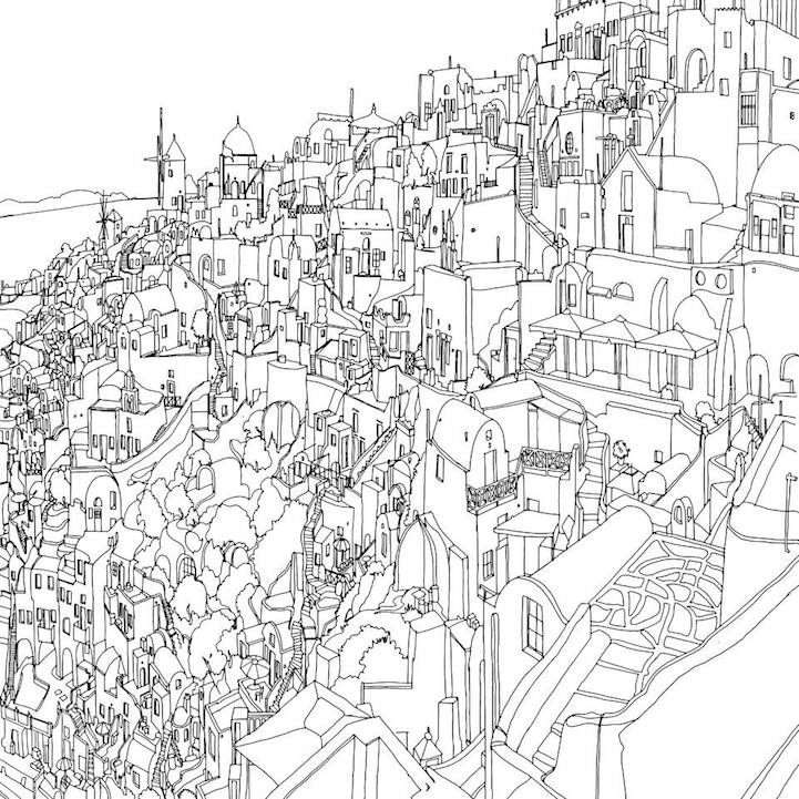 Quot Fantastic Cities Quot A Beautiful Colouring Book For