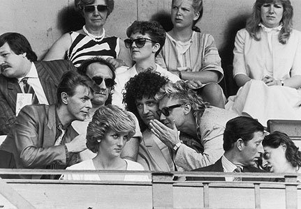 Top Row David Bowie, John Deacon, Brian May & Roger Taylor