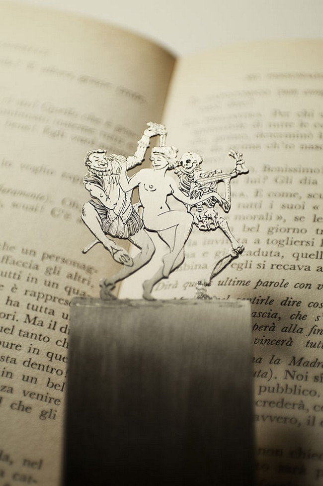 dancing-woman-devil-skeleton-silver-bookmark