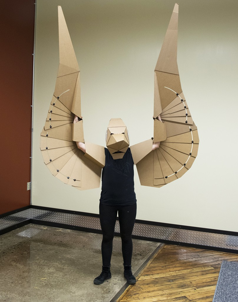 Make The Cut >> Lisa Glover's 3D Cardboard Pterodactyl Can Turn You Into A ...