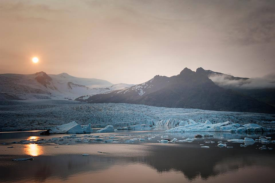 Midnight Sun Ice Lagoon