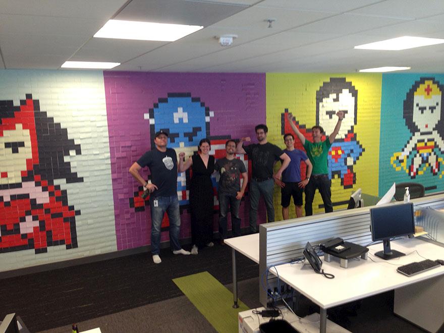 Creative Agency Staff Installs Superhero Murals On Their