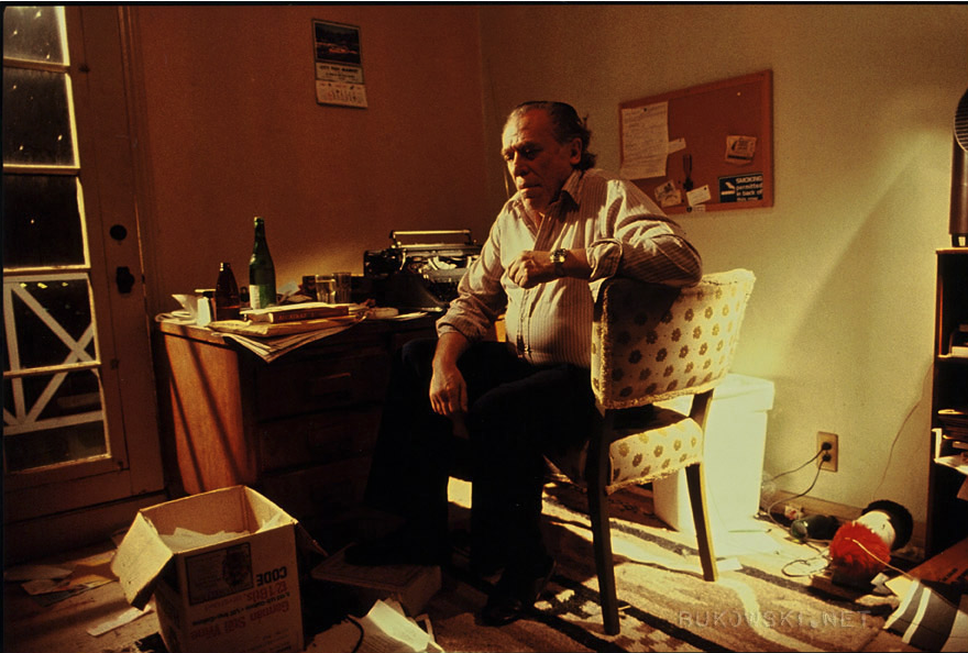 Bukowski, In his office, 1982