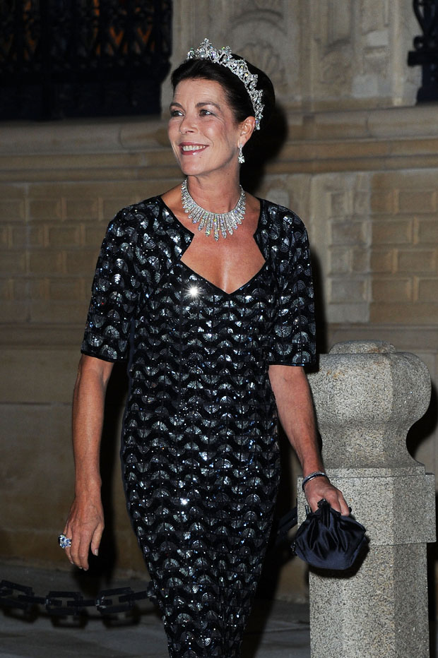 LUXEMBOURG - OCTOBER 19:  Princess Caroline of Monaco attends the Gala dinner for the wedding of Prince Guillaume Of Luxembourg and Stephanie de Lannoy at the Grand-ducal Palace on October 19, 2012 in Luxembourg, Luxembourg. The 30-year-old hereditary Grand Duke of Luxembourg is the last hereditary Prince in Europe to get married, marrying his 28-year old Belgian Countess bride in a lavish 2-day ceremony.  (Photo by Pascal Le Segretain/Getty Images)