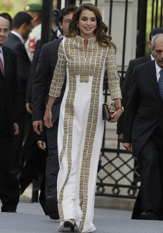 Queen Rania of Jordan attends a ceremony