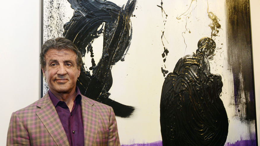 "Actor and artist Stallone attends the opening of his show ""Real Love"" of paintings made from 1975-2015, in Nice"