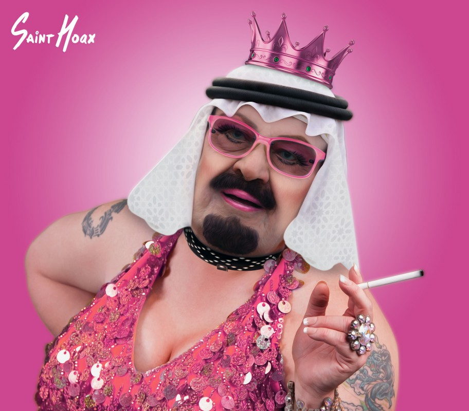 King Abdullah as Queen Abby