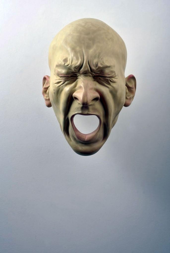 Bogdan-Rata-Scream-polyester-synthetic-resin-metal-paint-2008-57x46z34-cm-Courtesy-Slag-Gallery-photocredit-Andrei-Jecza