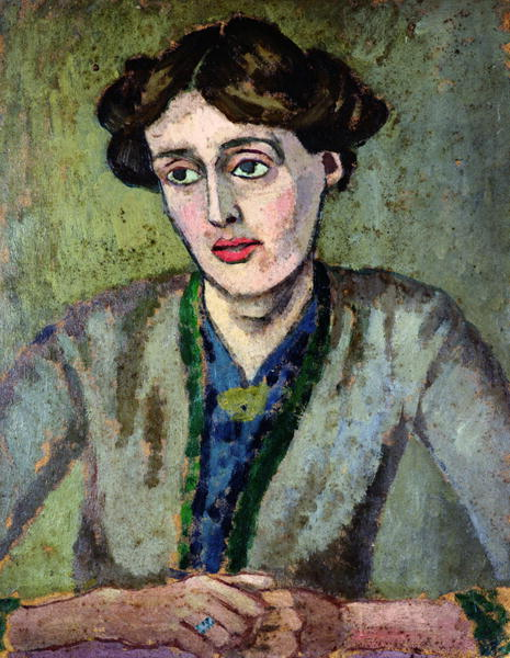 A portrait of Woolf by Roger Fry c. 1917