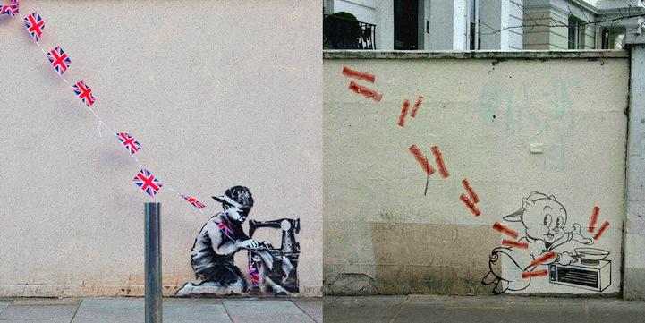 Banksy S Street Art Recreated Featuring Beloved Cartoon