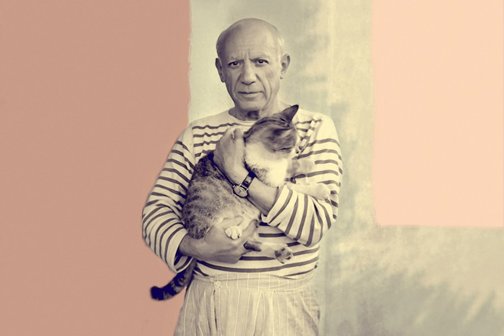 Pablo Picasso with cat. by vagretirobert