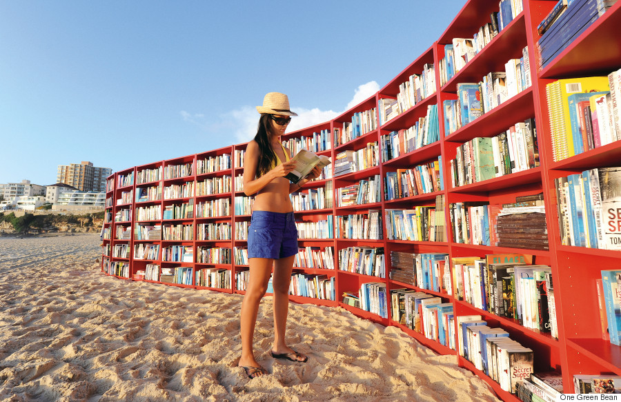 BOOKCASES ON BONDI BEACH