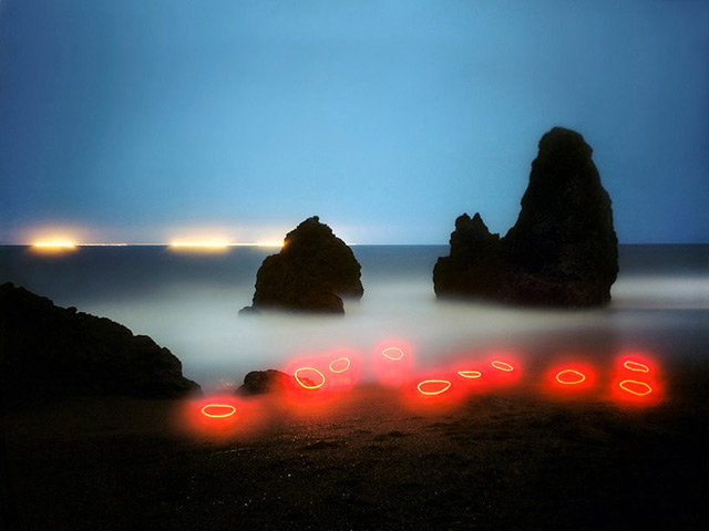 Artist Creates Landscape Light Installations And Captures