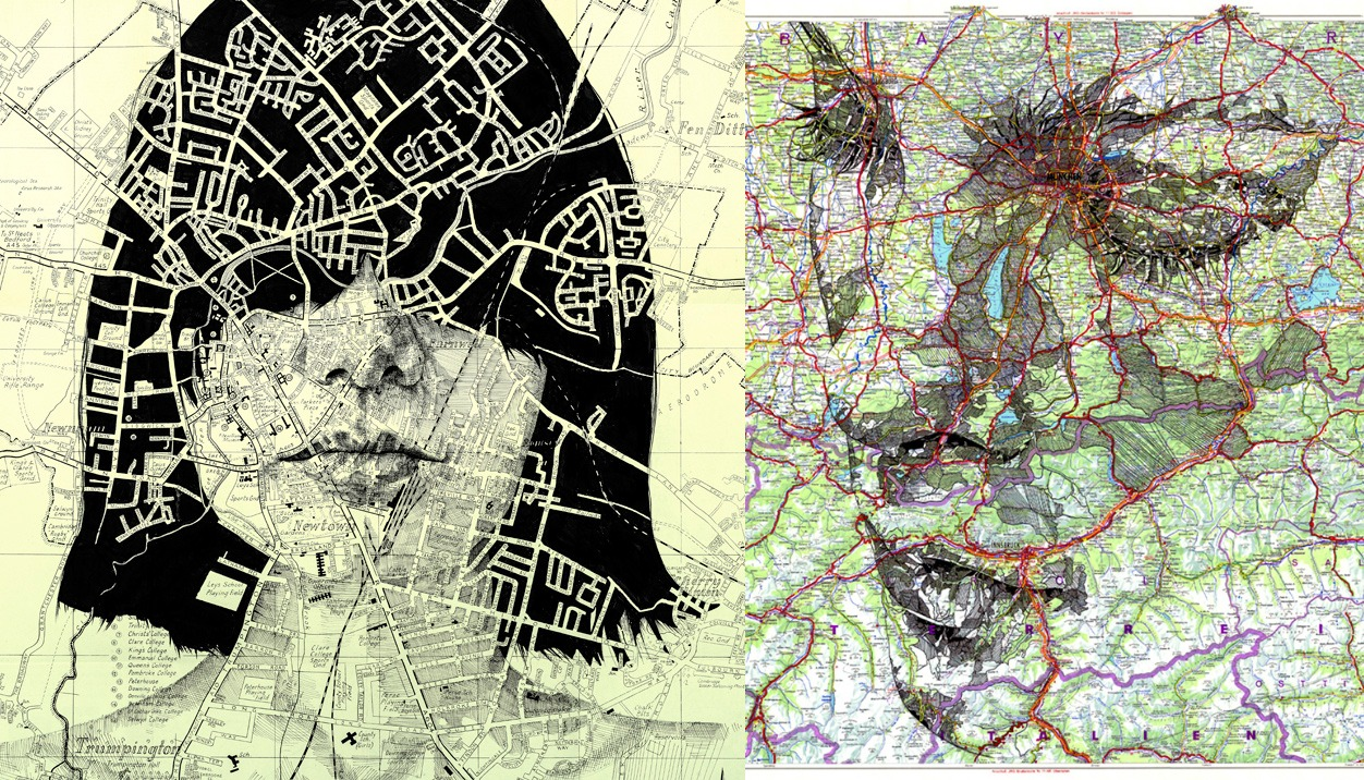 Ed Fairburn Creates Amazing Portraits Using Vintage Maps ... on map travel, map de france, map in europe, map united states football league, map in india, map cornwall uk, map clip art, map heart ideas, map with mountains, map your neighborhood, map home decor, map without labels, map of usa and europe, map with states, map distance between cities, map background, map artist, map facebook covers, map recipe, map books,