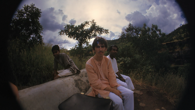 GeorgeHarrisonsfisheyeself-portraitsinIndia19666