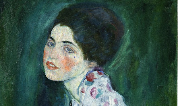 Portrait of a Woman by Gustav Klimt.
