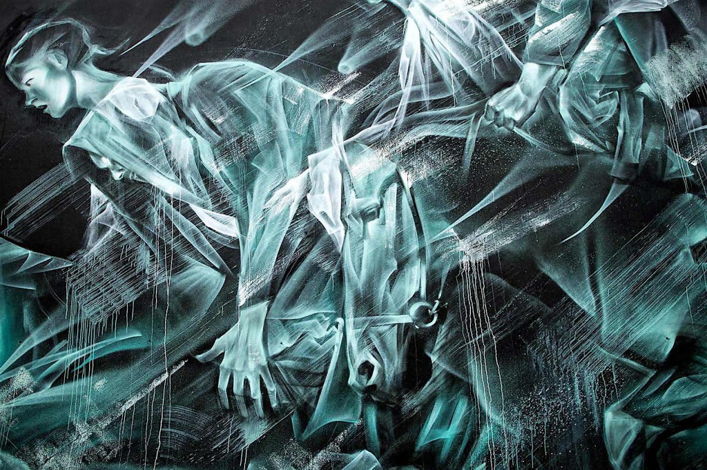 Lil Hill S Large Ghostly Murals Comment On The Effects Of Capitalist Culture On The Individual