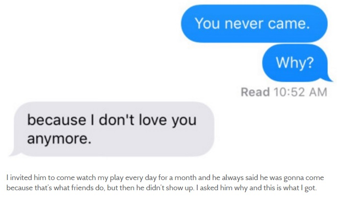 This Tumblr Shares The Last Messages People Received From Ex-Lovers