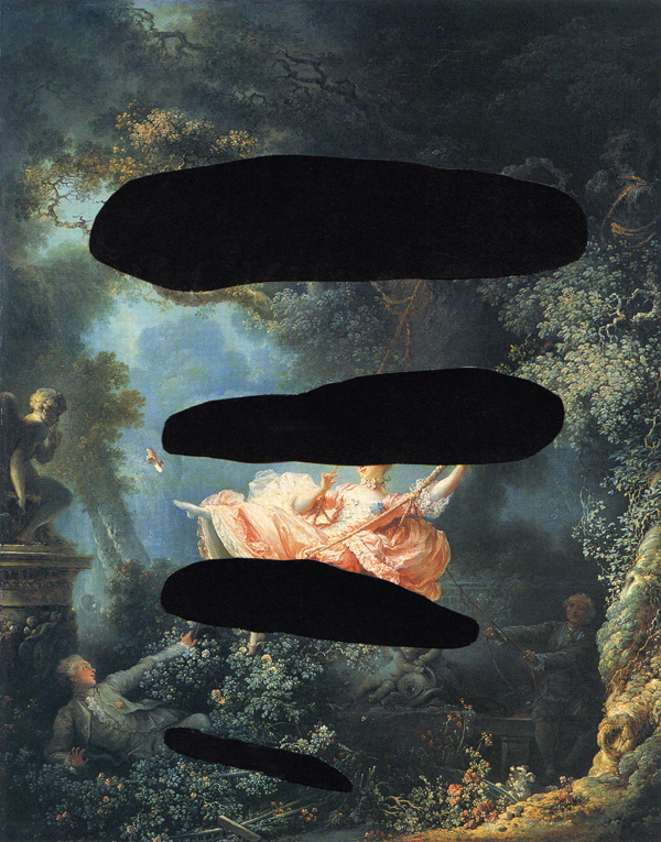 Fragonard-With-Halos---collage-on-found-print---2010---7,25-x-5,75---002