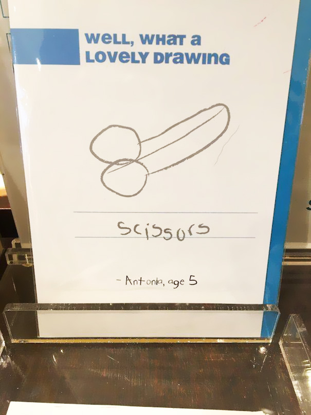 17 Totally Inappropriate Kids' Drawings