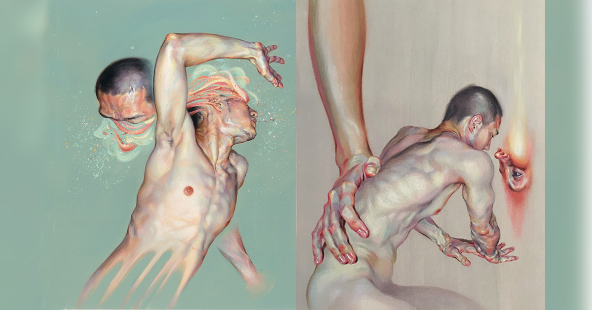 Wanjin Gim Creates Phenomenal Paintings That Express The Abstract Curves Of The Human Body Art Sheep